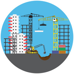 Construction project, vector