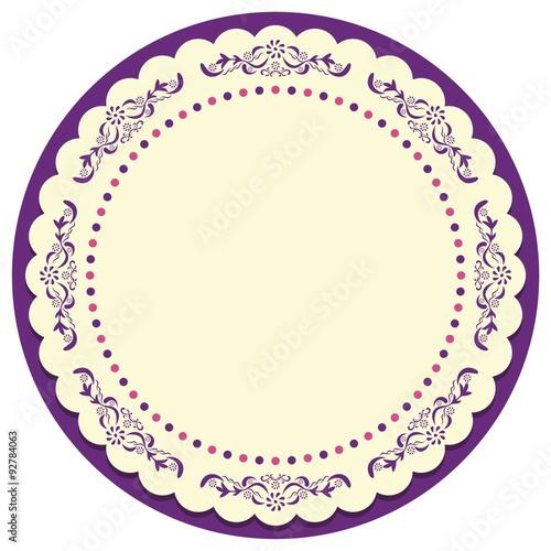 Circle Vintage Frame Vector \