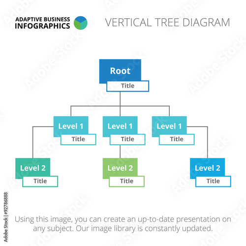 Vertical Tree Diagram Template  Stock Image And RoyaltyFree