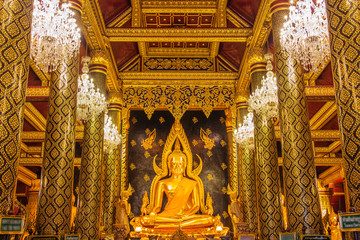 PHITSANULOK - JULY 24,2015 : The most beautiful buddha sculpture