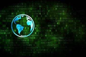 Studying concept: Globe on digital background