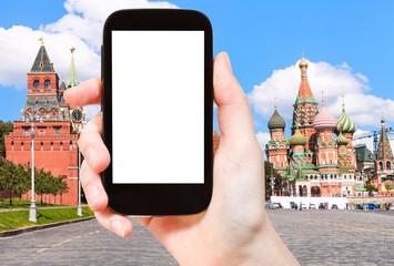 smartphone and Vasilevsky descent in Moscow