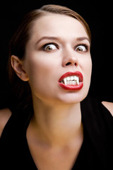 Young woman in the image of the vampire