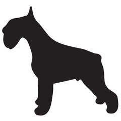 Silhouette of a dog-vector
