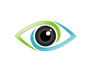 Eye Care Logo Template - colorful eye