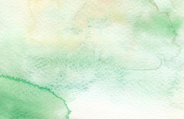 green textures watercolor background