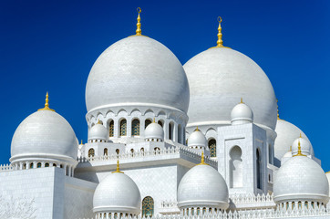 Sheikh Zayed Mosque in Abu Dhabi - considered to be the key for worship in the United Arab Emirates