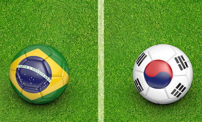 Team balls for Brazil vs South Korea soccer tournament match