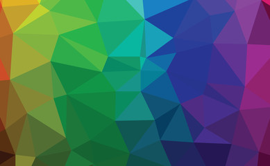 Abstract colorful  ocean polygon  background vector