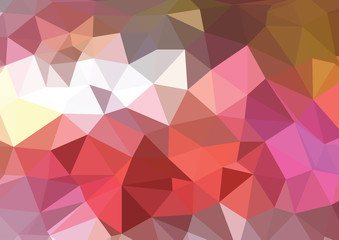 Abstract triangle art in pastel colors