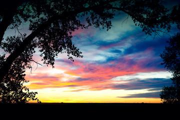 Southern Alberta Prairie Sunset