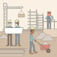 Construction site.