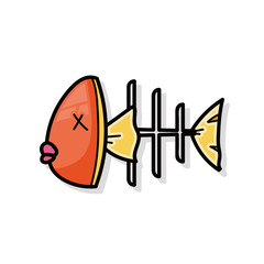 Fish bone doodle