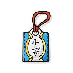 Chinese talisman doodle