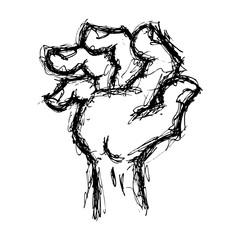 grunge gesturing hand