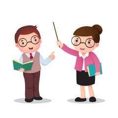 Illustration  of profession's costume of teacher for kids