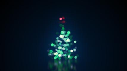 blurred christmas tree lights