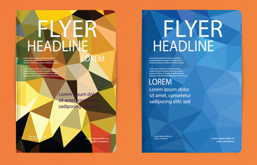 Template polygon abstract design magazine brochure flyer booklet