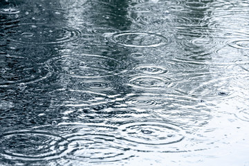 Tempete rain drops background