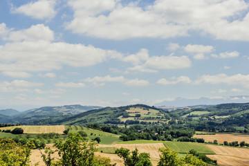 Vue sur la campagne de l'Isère
