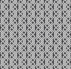 Seamless pattern of braided strips with swatch for filling. Abstract celtic ornament texture. Fashion geometric background for web or printing design.