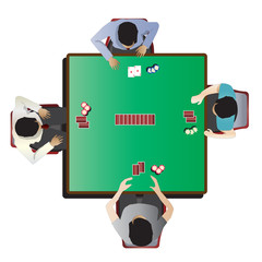Casino furniture , Poker table top view set 7 for interior, vector illustration