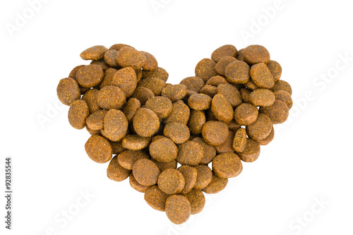 Dry dog or cat food - Stock Image macro.