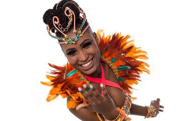 Stores à enrouleur Carnaval Female dancer inviting you to dance with her