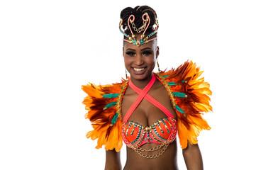 Papiers peints Carnaval Female smiling samba dancer