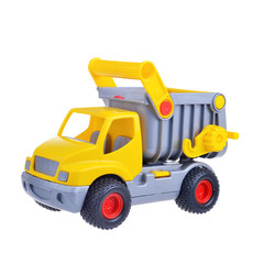 toy truck isolated on white background