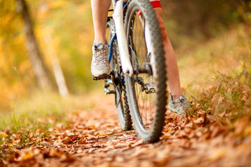 close-up bike