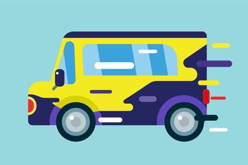 Vector cartoon car icon