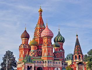 Colorful domes of moscow churches