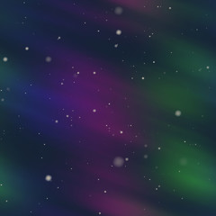 Aurora Borealis background polar sky illustration