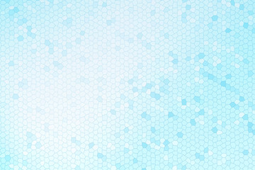 Abstract blue stained glass background