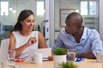 African business man meeting