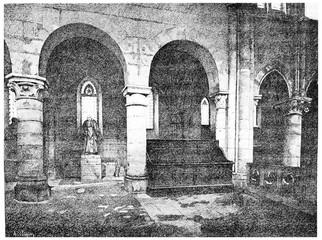 Interior of Saint-Julien-le-Pauvre: Tomb of Mr. Montyon.