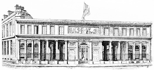 The School of Medicine, vintage engraving.