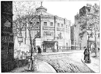 Winter Circus, Boulevard des Filles-du-Calvaire, vintage engravi