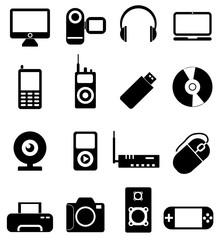 Computer electronics icons set
