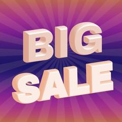 Big Sale 3D Promotion Flyer.