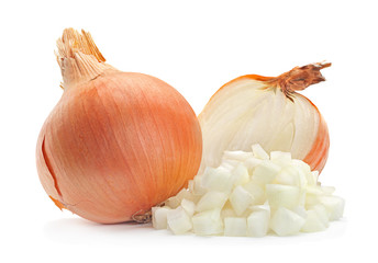 Onion slice on white Wall mural
