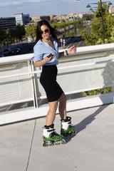 woman skater dancing