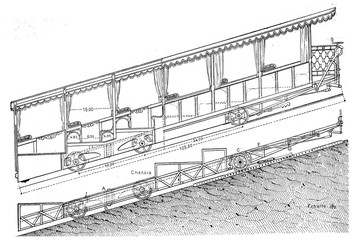 Railway Giessbach, Exterior and cutting freight car and its fram
