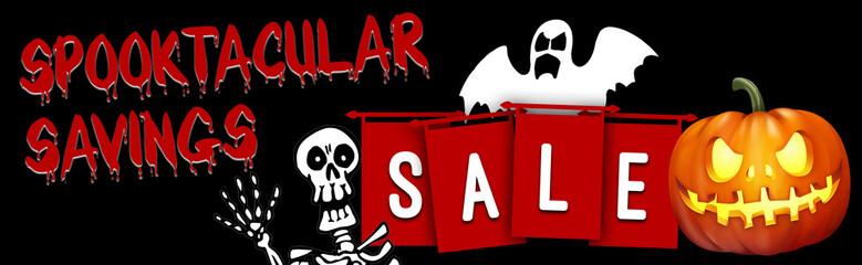 halloween sale deals web banner