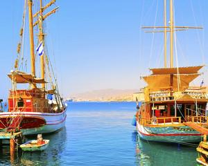 Passenger gulets in Eilat