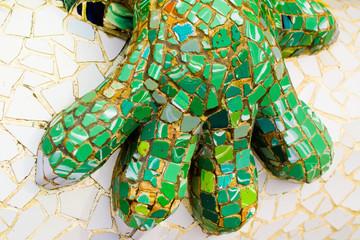 Gaudi park. Lizard Fountain.