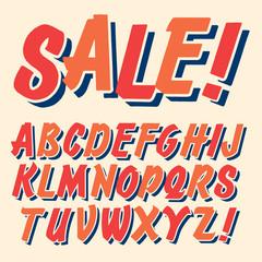 Handmade script font. Comic letters. Funny alphabet for decoration