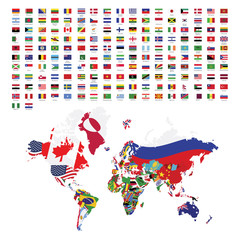 World flags all