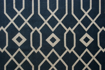 Blue and white geometric pattern